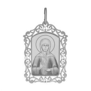 Серебряная нательная иконка «Святая блаженная Матрона Московская» 94100233 SOKOLOV