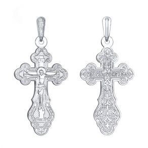 Крест из серебра 94120020 SOKOLOV
