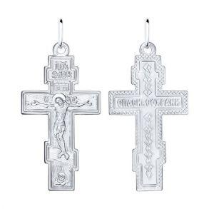 Крест из серебра 94120030 SOKOLOV