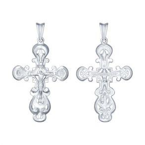 Крест из серебра 94120144 SOKOLOV