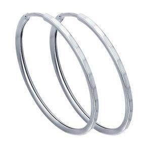 Серьги конго из серебра с алмазной гранью 94140074 SOKOLOV