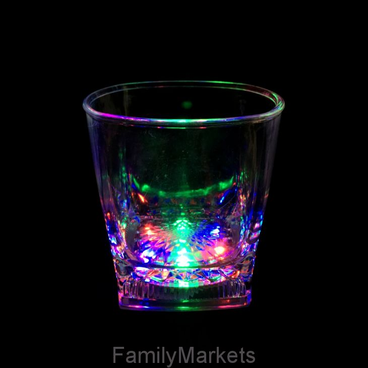 Светящийся стакан для виски Bubble Rocks, 300 мл