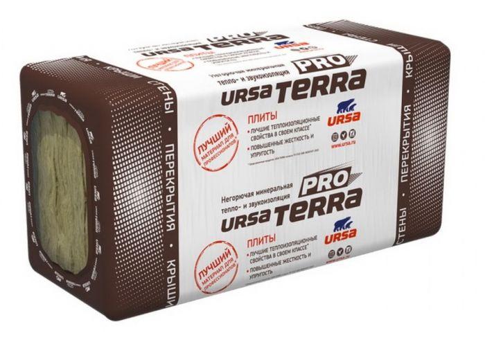 Утеплитель минеральная вата Ursa Terra 34 PN PRO 1000х610 мм, толщина 50 мм (10 шт/6.10 м2)