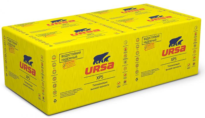 Экструдированный пенополистирол Ursa XPS N-III-G4, 1180х600х30 мм (12 плит/8.49 м2)