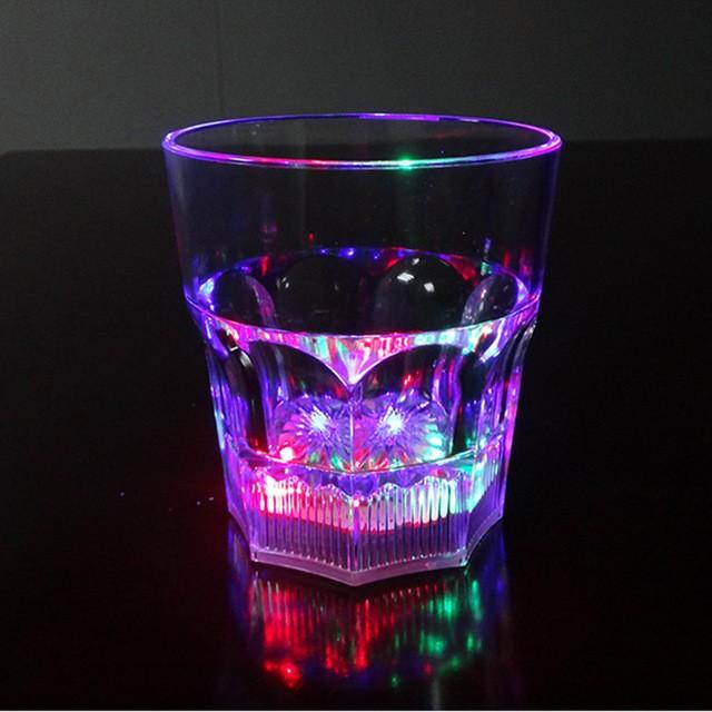 Восьмиугольный светящийся бокал для виски Bubble Rocks