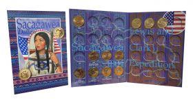 """Монеты 1$ из роллов, серия """"Индианка Сакагавея"""" комплект из 11 монет"""