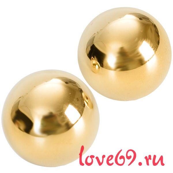 Подарочные вагинальные шарики под золото Ben Wa Balls