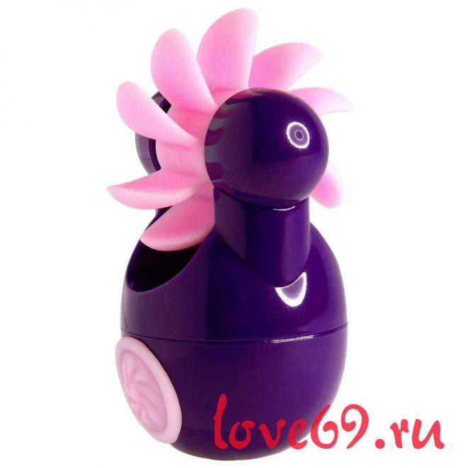 Фиолетовый клиторальный вибростимулятор Sqweel Go Purple