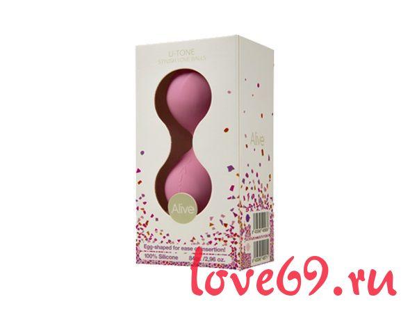 Розовые вагинальные шарики U-tone