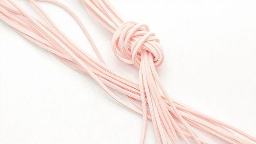 Шнур замшевый, 3*2 мм, Цвет №27, Персиковый, 1 м/упак