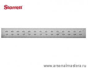 Линейка  Starrett  150 мм 2 шкалы  в мм (шаг 1 мм и 1/2 мм) C635-150 М00012482
