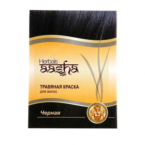 Краска для волос | Черный | 60 г | Aasha Herbals