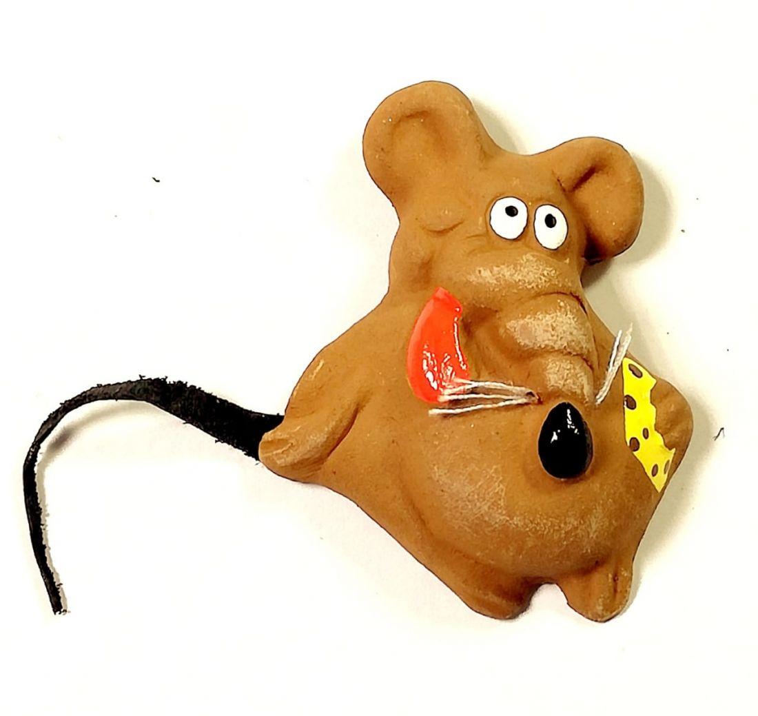Магнит крыса с сыром Керамика