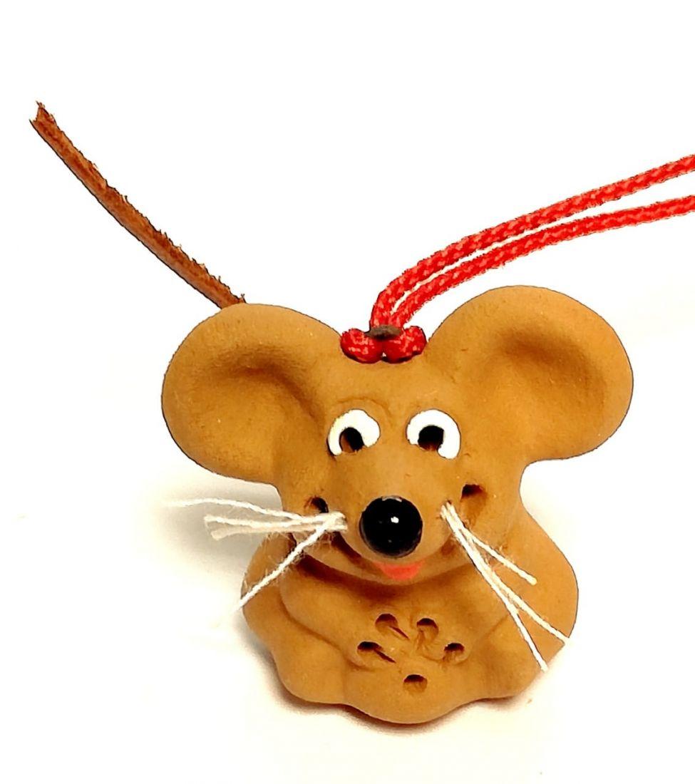 Фигурка мышки Керамика
