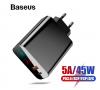 Зарядное устройство Baseus Quick Charge 4,0 + USB-C 45W PD для нотбуков Xiaomi/Apple
