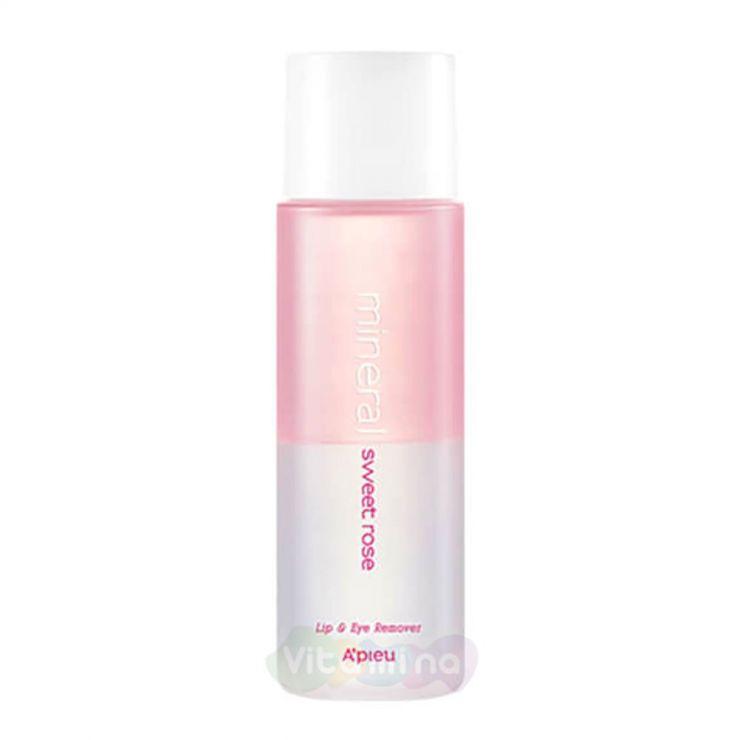 A'Pieu Двухфазное средство для снятия макияжа с губ и глаз с розовой водой Lip & Eye Wash Remover Sweet Rose