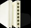 Плита пазогребневая пустотелая 667х500х80 мм, Гипсополимер