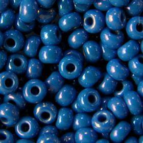 Бисер чешский 34210 синий непрозрачный радужный Preciosa 1 сорт