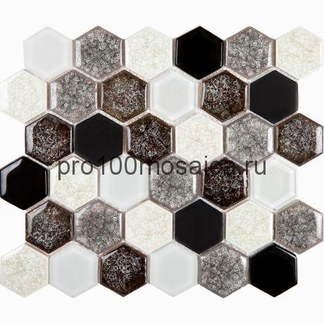 Esagono Misto Griggio. Мозаика серия BRILLANT, размер, мм: 285*245*8 (IMAGINE.LAB)