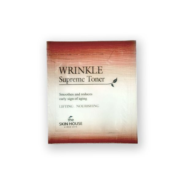 Омолаживающий тонер для лица с экстрактом женьшеня пробник The Skin House WRINKLE SUPREME TONER 2ml