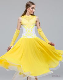 "Платье для танцев стандарт ""Версаль Yellow"""
