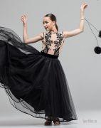 Черное платье для бальных танцев стандарт
