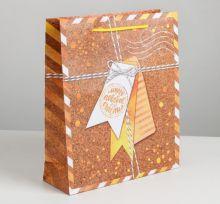 Пакет подарочный «Подарков много не бывает», ML 23 × 27 × 8 см