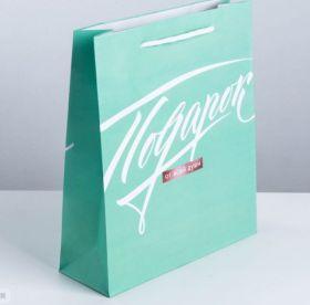 Пакет подарочный «Подарок от всей души», ML 23 × 27 × 8 см