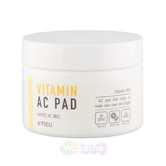 A'Pieu Пилинг-диски с AHA и BHA кислотами и витаминами Vitamin AC Pad, 35 шт