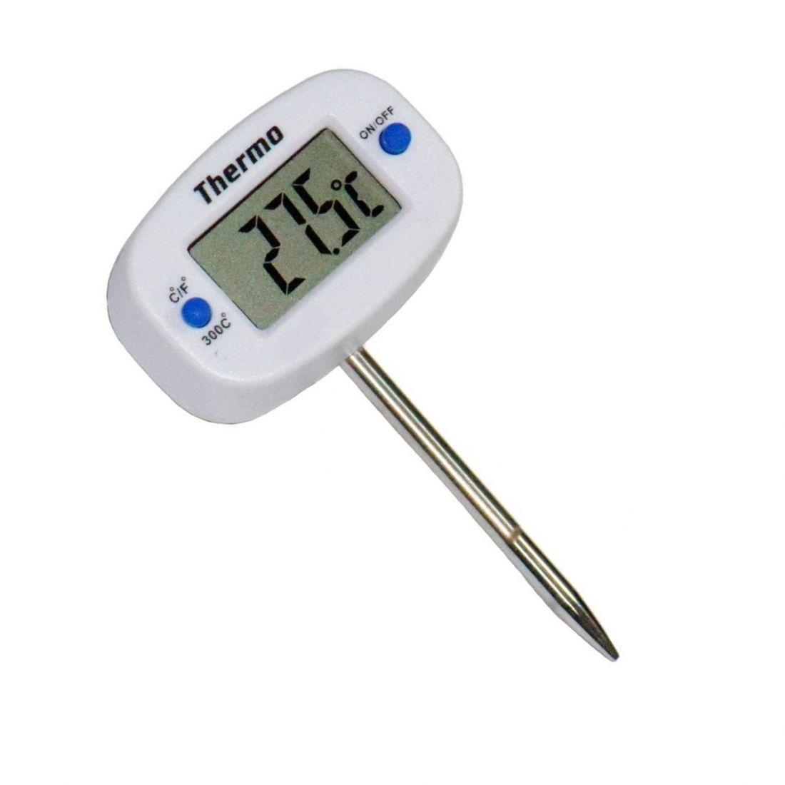 Цифровой электронный термометр с укороченным щупом