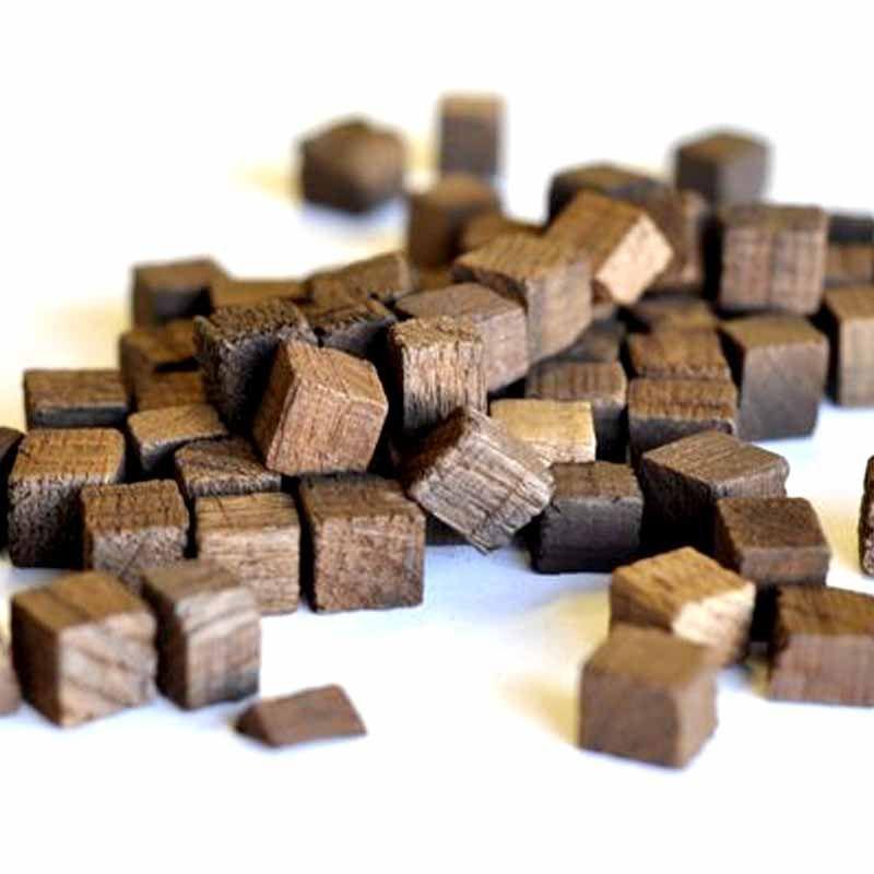 Кубики из дерева грецкого ореха, Сербия (средний обжиг), 50 гр, на 10-50 л