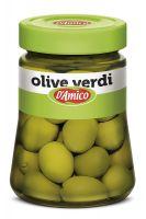 Оливки зеленые в рассоле 300 гр., Olive verdi D'Amico 300 gr.