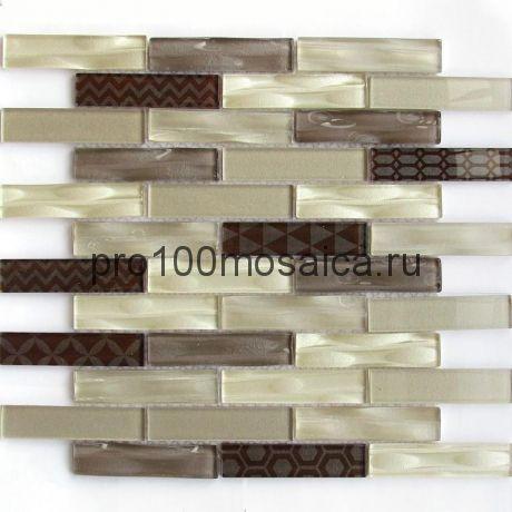 Optima Brown Мозаика серия EXCLUSIVE, чип 23*98, размер, мм: 300*300*6