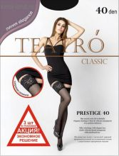 Чулки женские (3 штуки) Prestige, 40 ден, цвет чёрный (nero), размер 3