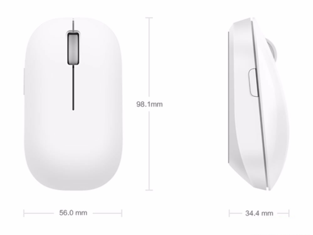 Мышь беспроводная Xiaomi Mi Wireless Mouse USB (White)