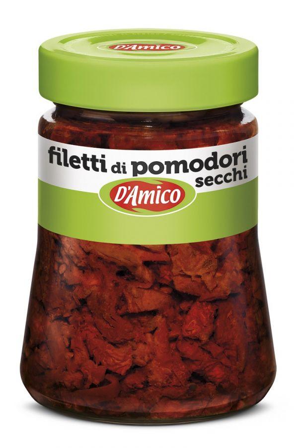 Томаты вяленые резаные 280 гр., Filetti di pomodori secchi D'Amico 280 gr.