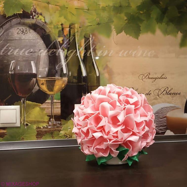 Светильник-ночник гортензия розовая