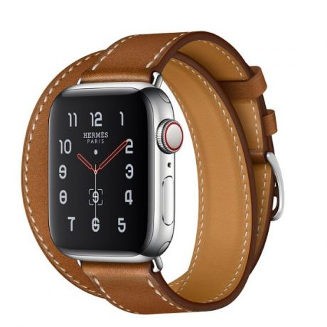 Apple Watch Hermes Series 5 Stainless Steel 40mm GPS + Cellular Fauve with Leather Double Tour