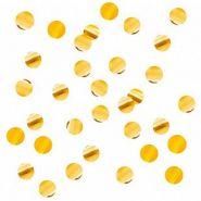 Конфетти круги золото, фольга, 10 мм, 500 гр