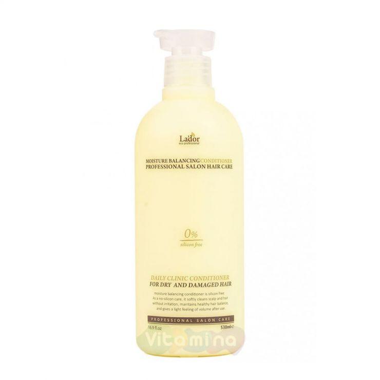 La'dor Увлажняющий бессиликоновый бальзам для волос Moisture Balancing Conditioner, 530 мл