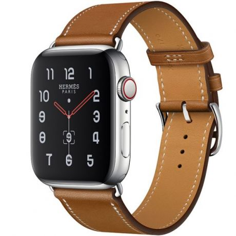 Apple Watch Hermes Stainless Steel Series 5 40mm GPS + Cellular Fauve Leather Single Tour