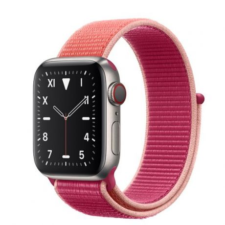 Apple Watch Edition Series 5 Titanium Case 44mm GPS + Cellular Pomegranate with Sport Loop