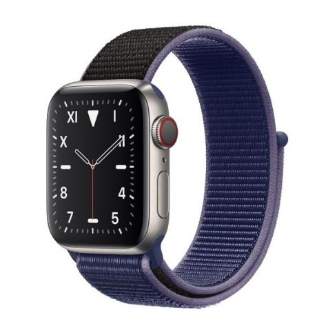 Apple Watch Edition Series 5 Titanium Case 44mm GPS + Cellular Midnight/Blue with Sport Loop
