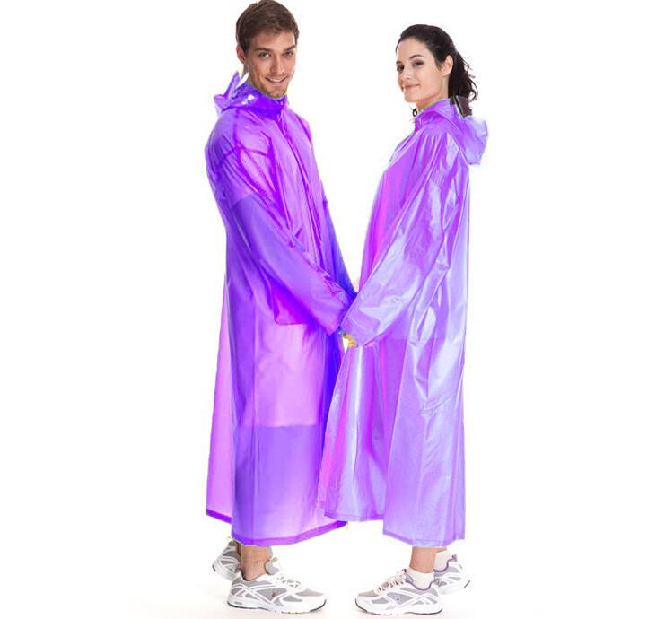 Виниловый Плащ-Дождевик Для Взрослых, цвет фиолетовый