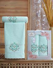 Комплект из 2-х махровых полотенец  Flowers 50*90+70*140 Арт.554.03