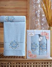 Комплект из 2-х махровых полотенец  Flowers 50*90+70*140 Арт.554.07
