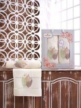 Комплект из 2-х махровых полотенец  Flowers 50*90+70*140 Арт.555.01