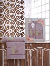 Комплект из 2-х махровых полотенец  Flowers 50*90+70*140 Арт.555.02