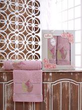 Комплект из 2-х махровых полотенец  Flowers 50*90+70*140 Арт.555.06
