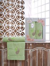 Комплект из 2-х махровых полотенец  Flowers 50*90+70*140 Арт.555.10